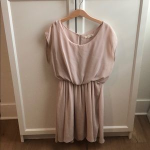 Blush flowy dress - perfect for bridesmaids!
